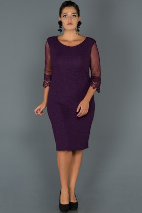 Short Purple Oversized Evening Dress ABK018