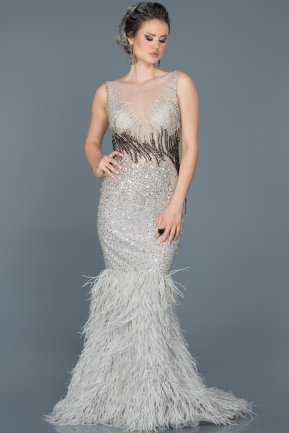 Long Silver Mermaid Prom Dress ABU253