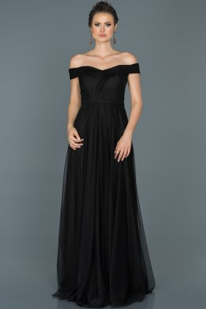 Long Black Prom Gown ABU021