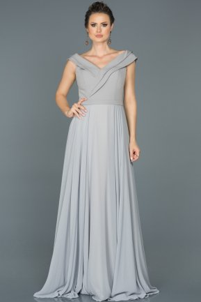 Long Grey Engagement Dress ABU012