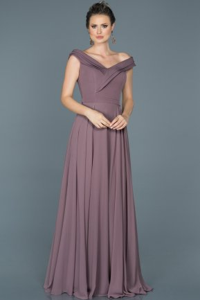 Long Lavender Engagement Dress ABU012