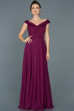 Long Plum Engagement Dress ABU012