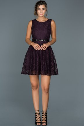 Short Purple Evening Dress ABK028
