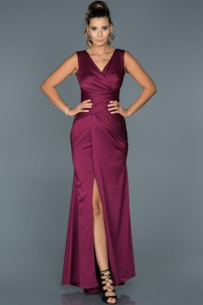 Long Violet Prom Gown ABU049