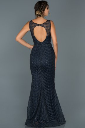 Long Navy Blue Mermaid Prom Dress ABU429