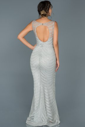Long Grey Mermaid Prom Dress ABU429