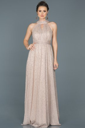 Long Powder Color Prom Gown ABU413