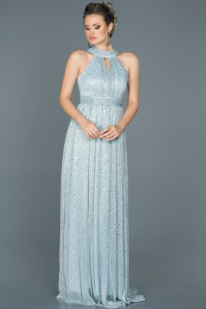 Long Blue Prom Gown ABU413