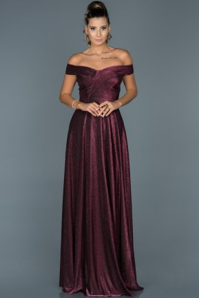 Long Plum Engagement Dress ABU446