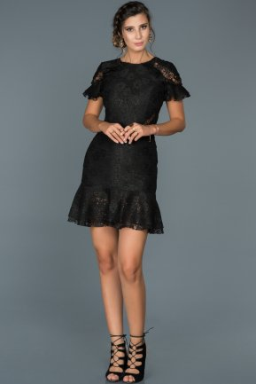 Short Black Invitation Dress ABK186