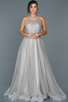Long Grey Engagement Dress ABU430