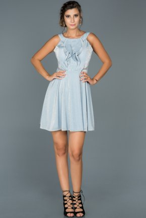 Short Blue Invitation Dress ABK188