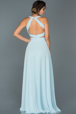 Long Light Blue Engagement Dress ABU418