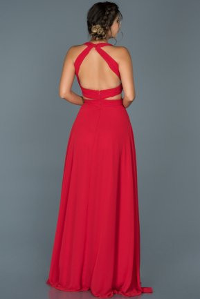 Long Red Engagement Dress ABU418