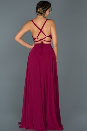 Long Plum Prom Gown ABU434