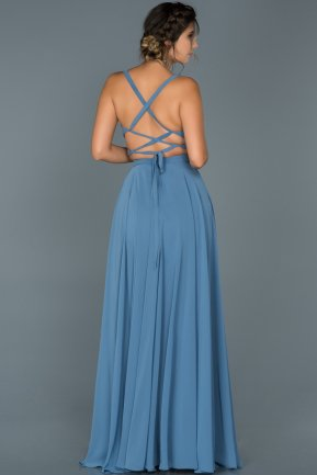 Long İndigo Prom Gown ABU434