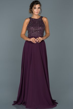 Long Violet Engagement Dress ABU435