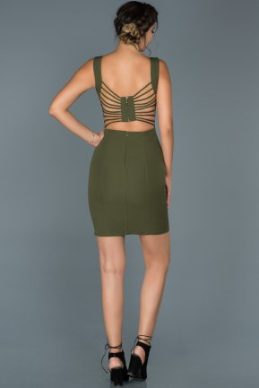 Short Olive Drab Invitation Dress ABK177