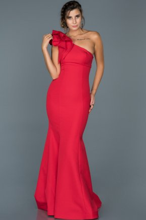 Long Red Mermaid Prom Dress ABU414