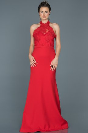 Tail Red Engagement Dress ABU415
