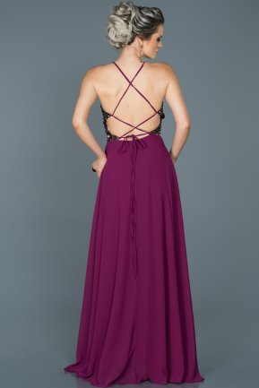 Long Plum Prom Gown ABU452