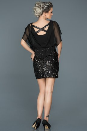 Mini Black Invitation Dress ABK203
