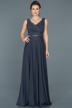Long Indigo Evening Dress ABU004