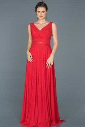 Long Red Evening Dress ABU004