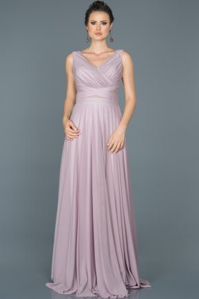 Long Light Lavender Evening Dress ABU004