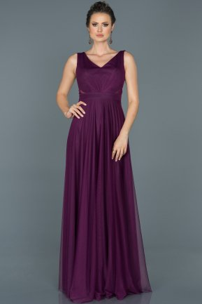 Long Purple Evening Dress ABU056