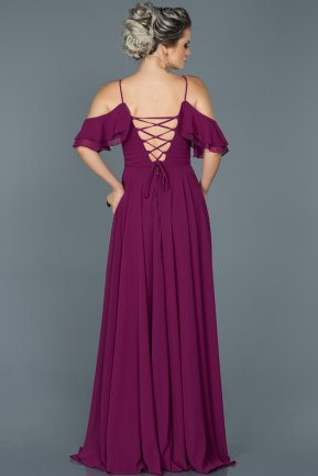 Long Plum Engagement Dress ABU459