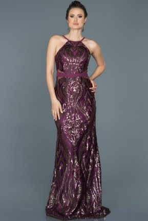 Plum Long Mermaid Evening Dress ABU759