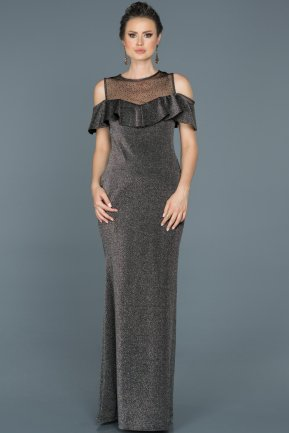Long Black Prom Gown ABU443