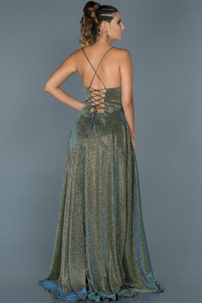 Long Gold Mermaid Evening Dress ABU451
