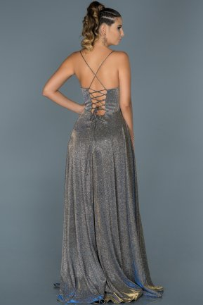 Long Silver Evening Dress ABU451