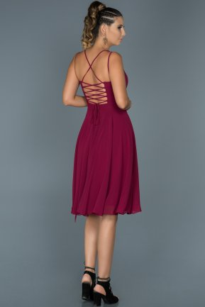 Short Plum Invitation Dress ABK198
