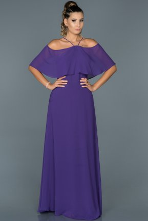 Long Purple Evening Dress ABU002