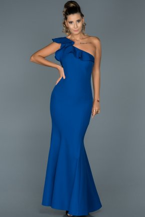 Long Sax Blue Mermaid Prom Dress ABU068