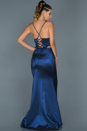 Long Sax Blue Mermaid Evening Dress ABU420