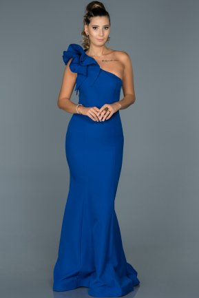 Long Sax Blue Mermaid Prom Dress ABU414