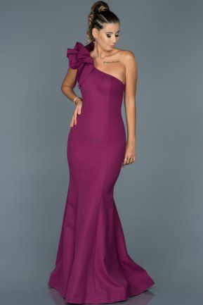 Long Plum Mermaid Prom Dress ABU414