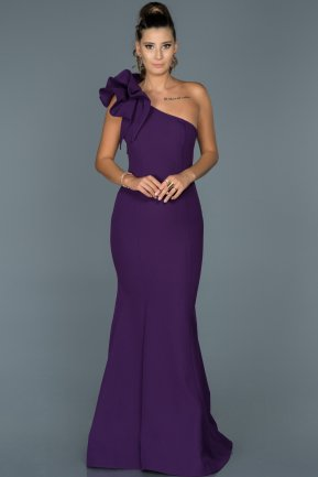 Long Purple Mermaid Prom Dress ABU414