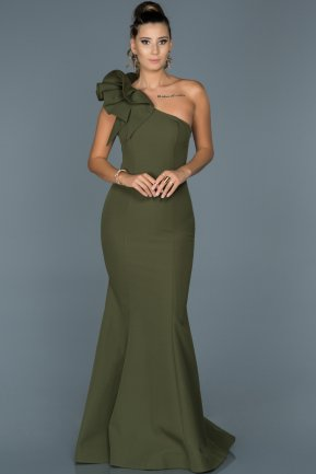 Long Olive Drab Mermaid Prom Dress ABU414