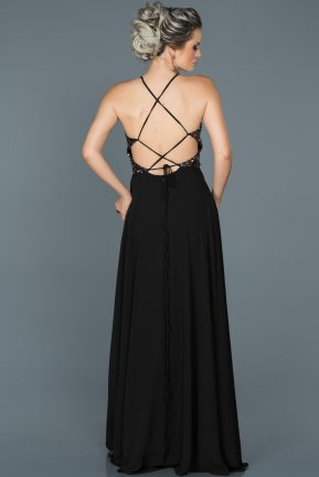Long Black Prom Gown ABU452