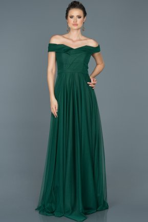 Long Emerald Green Prom Gown ABU021