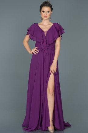 Long Purple Engagement Dress ABU032