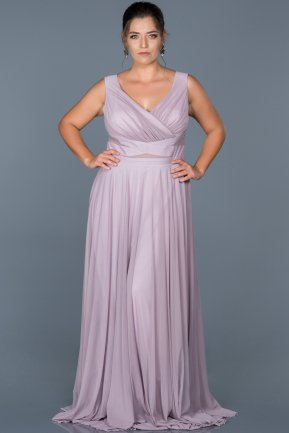 Long Lavander Oversized Evening Dress ABU004