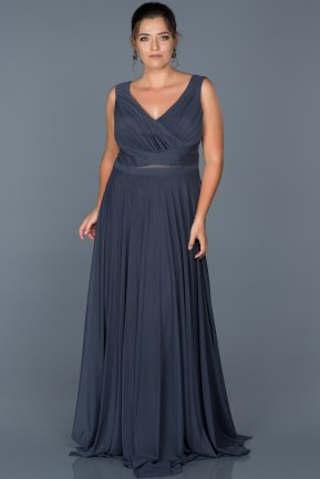 Long Indigo Oversized Evening Dress ABU004