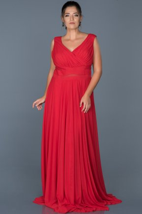 Long Red Oversized Evening Dress ABU004