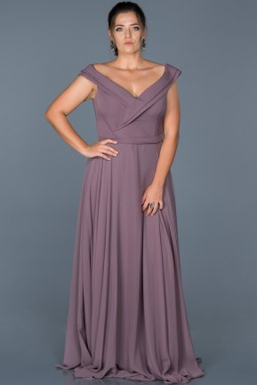 Long Lavander Oversized Evening Dress ABU012
